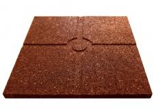 Резиновая плитка 500х500х20мм