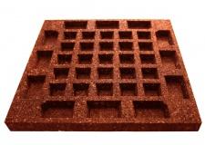 Резиновая плитка 500х500х40мм